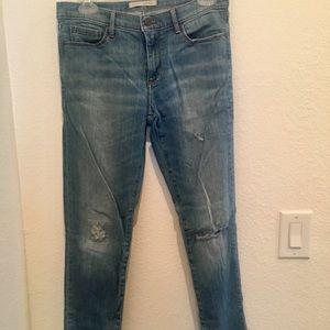 Banana Republic medium blue skinny jeans size: 27